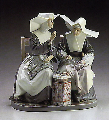 Sewing Circle Lladro Figurine