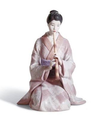 Shakuhachi Player Lladro Figurine