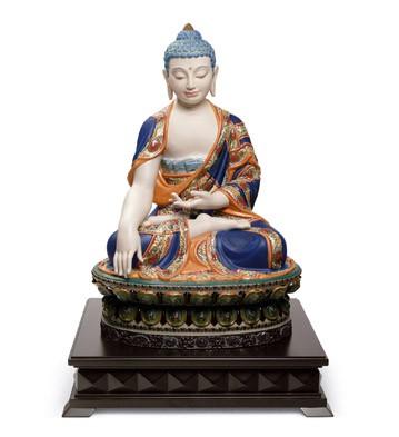 Shakyamuni Buddha (orange) Lladro Figurine