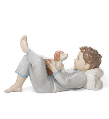 Shall I Read You A Story? Lladro Figurine
