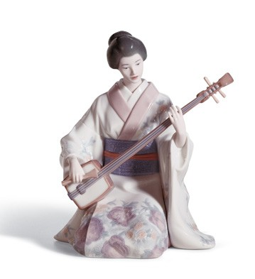 Shamishen Player Lladro Figurine