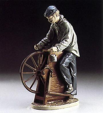 Sharpening The Cutlery Lladro Figurine