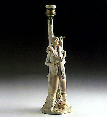 Shepherd W/ Kid (lamp) Lladro Figurine