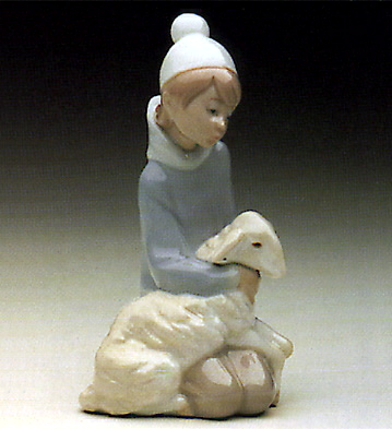 Shepherd With Lamb Lladro Figurine