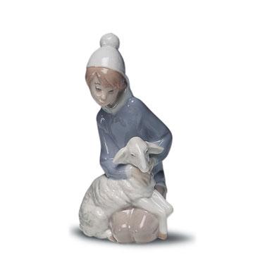 Shepherd With Lamb Lladro Figurine