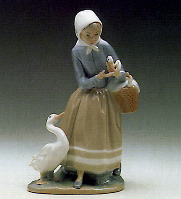 Shepherdess W/ducks Lladro Figurine