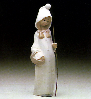 Shepherdess With Basket Lladro Figurine