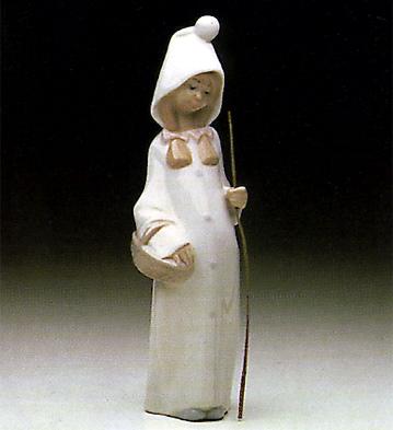 Shepherdess With Basket Lladro Figurine