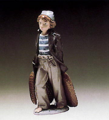 Ship-boy With Baskets Lladro Figurine