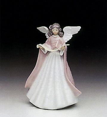 Singer Angel Lladro Figurine