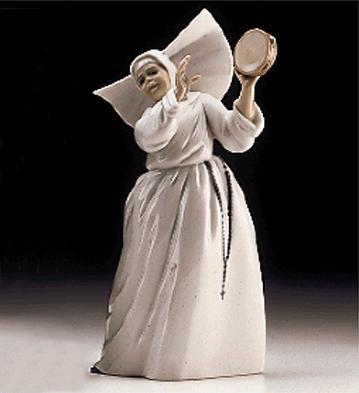 Sister With Tambourine Lladro Figurine