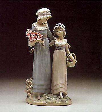 Sisters W. Flowers Lladro Figurine