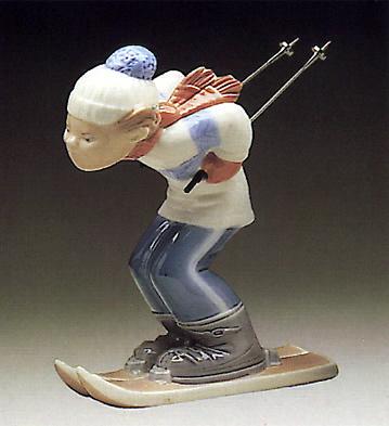 Skier Puppet Lladro Figurine