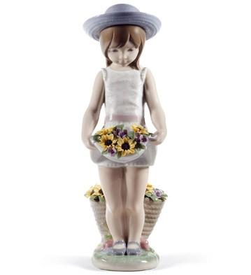 Skirt Full Of Flowers (60th Anniversary) Lladro Figurine