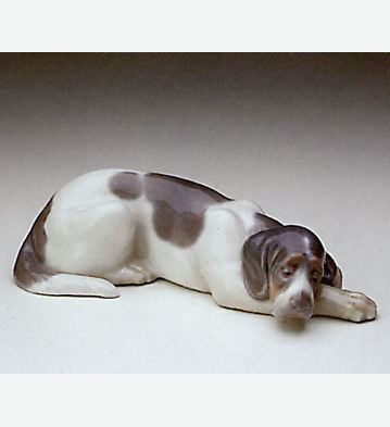 Sleepy Dog Lladro Figurine