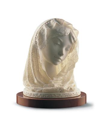 Sm. Bust With Veil (b) Lladro Figurine
