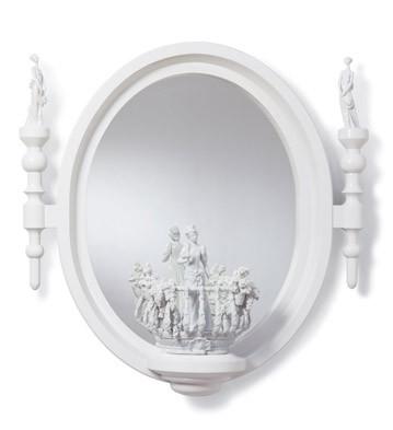 Small Oval Mirror (re-deco) Lladro Figurine