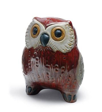 Small Owl (red) Lladro Figurine