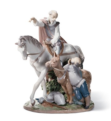 Somewhere In La Mancha Lladro Figurine