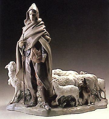 Sorian Shepherd W/ Flock Lladro Figurine
