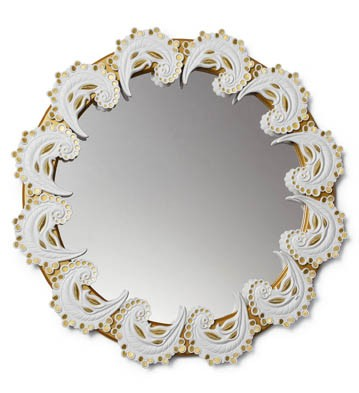 Spiral Mirror (white / Gold) Lladro Figurine