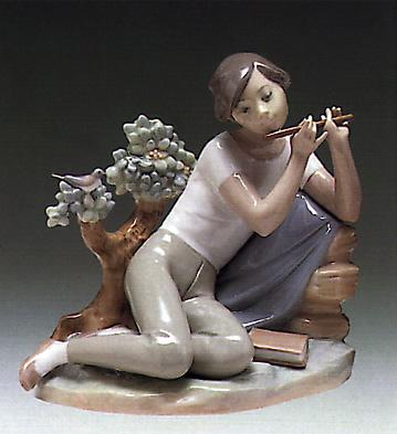 Student Flute Player Lladro Figurine