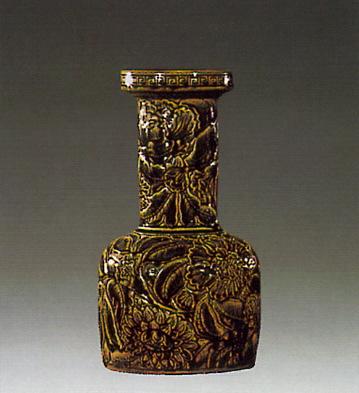 Sunflower Jar Brown Lladro Figurine