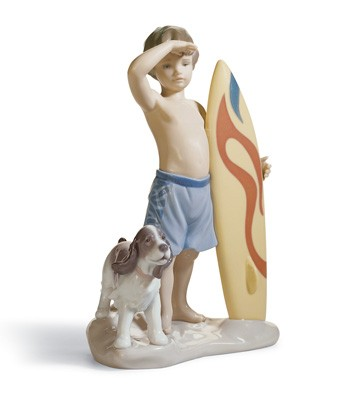 Surf's Up Lladro Figurine