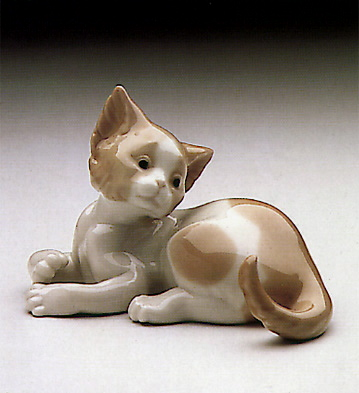Surprised Cat Lladro Figurine