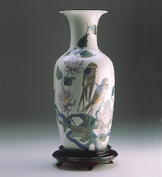 Swalow Vase (l.e.) (b) Lladro Figurine