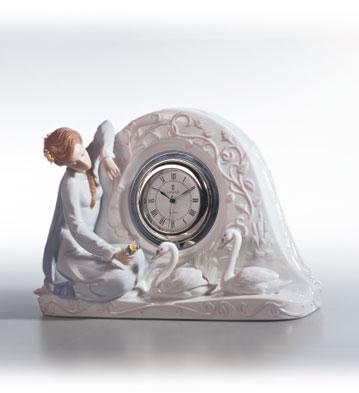 Swan Clock Lladro Figurine
