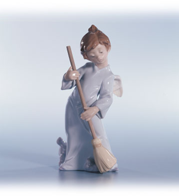 Sweep Away The Clouds Lladro Figurine