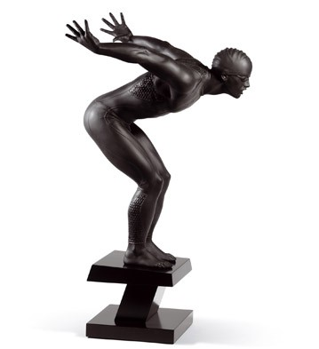 Swimmer (black) Lladro Figurine