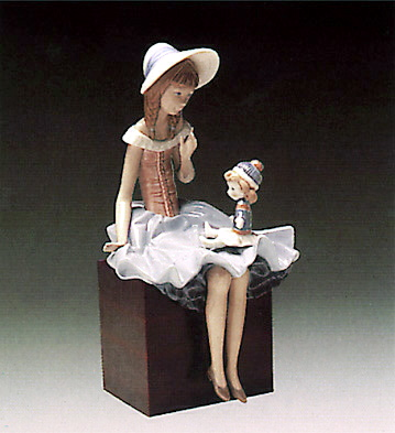 Talking To The Doll (b) Lladro Figurine