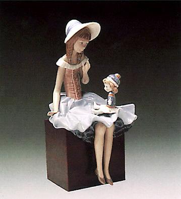 Talking To The Doll (b) Lladro Figurine