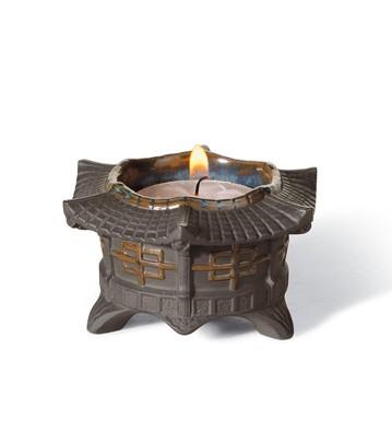 Tea Light Candle Holder (black) Lladro Figurine