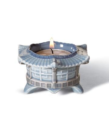 Tea Light Candle Holder (blue) Lladro Figurine