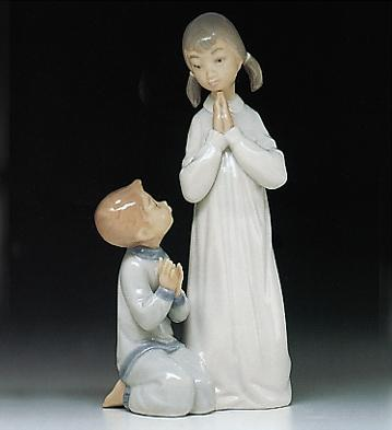Teaching To Pray Lladro Figurine