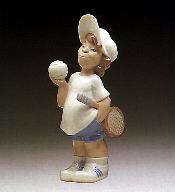 Tennis Player Puppet Lladro Figurine