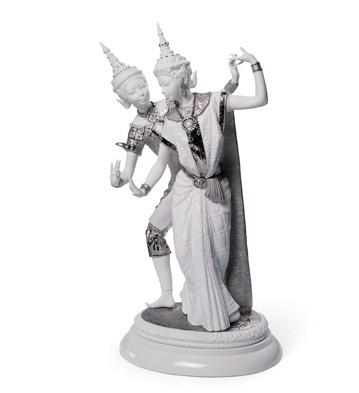 Thai Couple (re-deco) Lladro Figurine