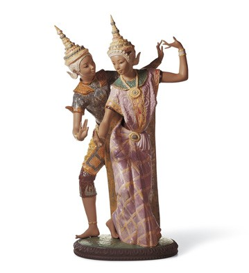Thai Couple Lladro Figurine