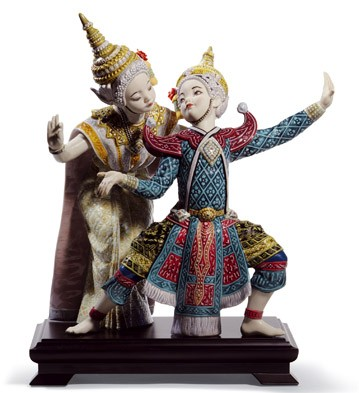 Thai Dancers Lladro Figurine