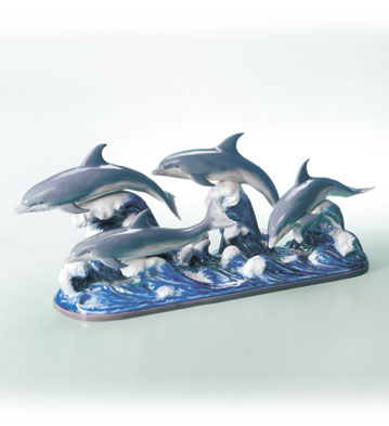 The Dolphins Lladro Figurine