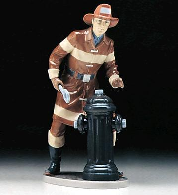 The Fireman Lladro Figurine