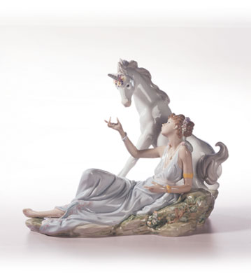 The Goddess & The Unicorn Lladro Figurine