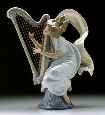 The Harpist Lladro Figurine