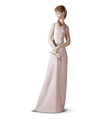 The Lady Of The Rose Lladro Figurine