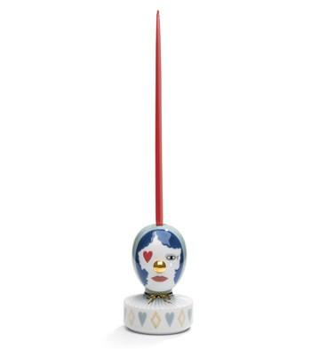 The Masquerade Iii (candle Holder) Lladro Figurine