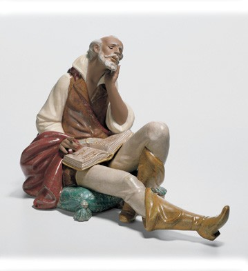 The Nobleman's Reading Lladro Figurine