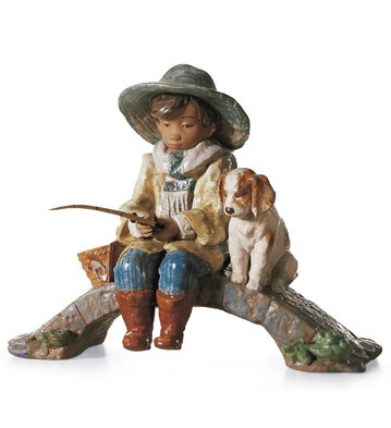 The Old Fishing Hole Lladro Figurine